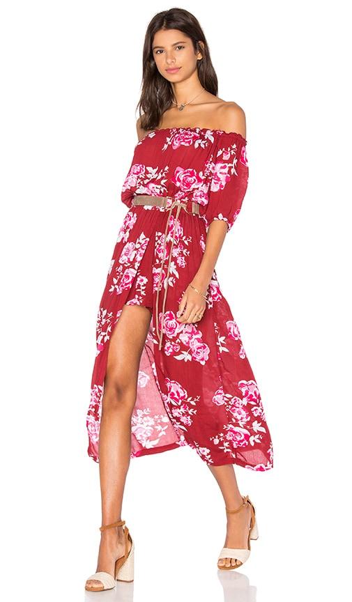 Steele Maya Maxi Dress in Red