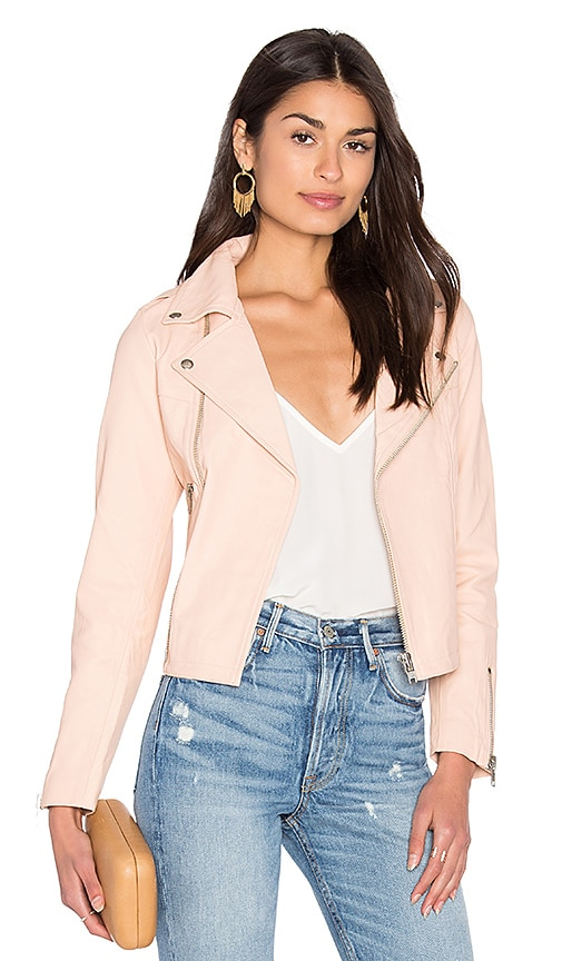 Steele Harlow Leather Jacket in Pink