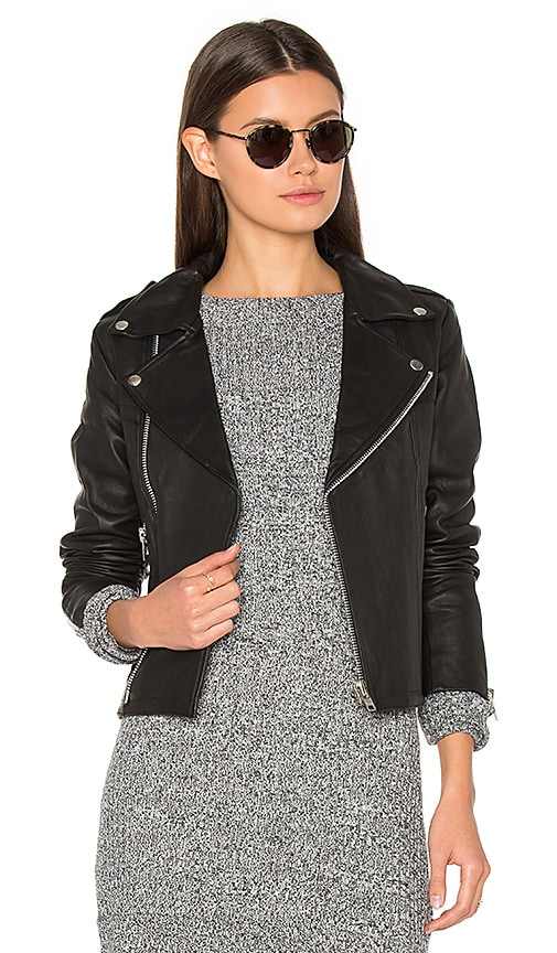 Steele Harlow Leather Jacket in Black