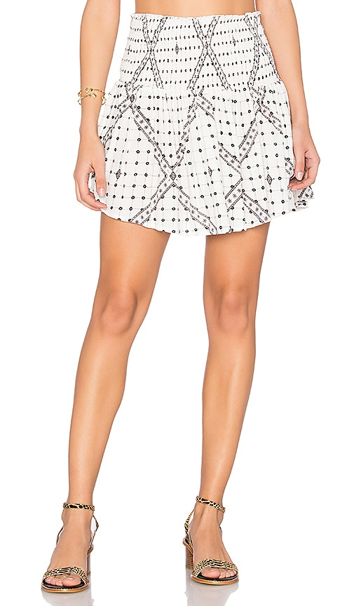 Steele Ruby Skirt in White