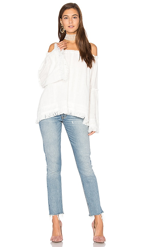 Steele Frankie Top in White