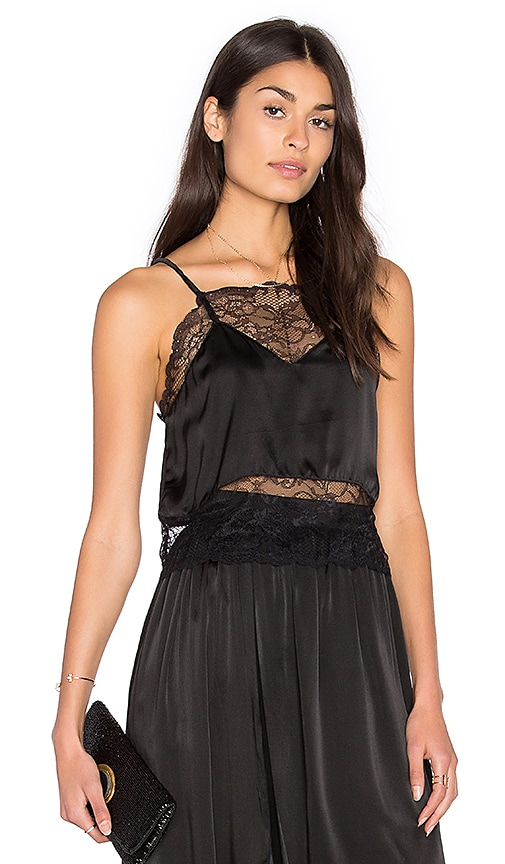 Steele Etta Crop Cami in Black