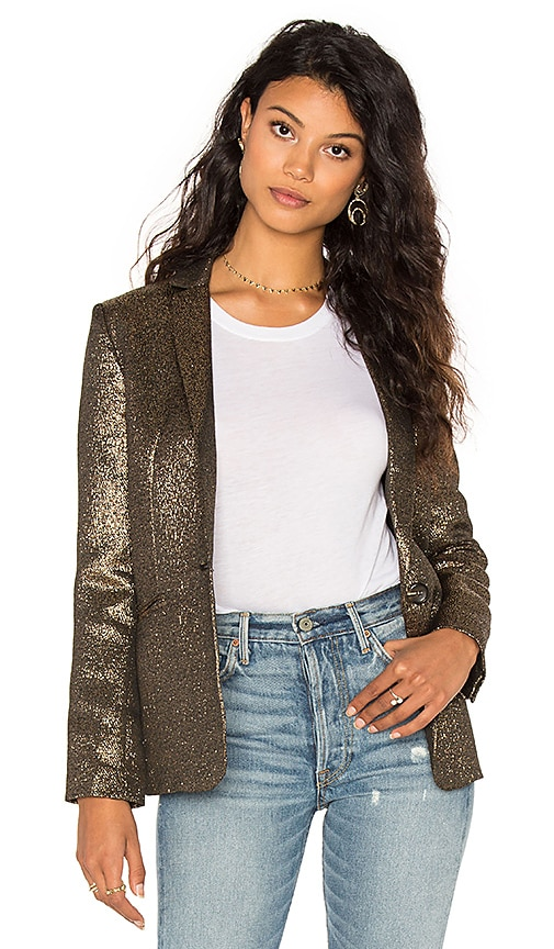 STELLA FOREST Blazer in Metallic Gold