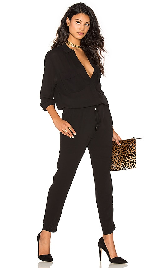 Collared Long Sleeve Jumpsuit