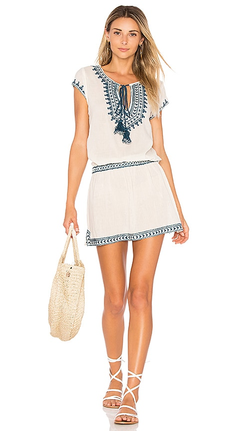 Star Mela Smiti Embroidered Sundress in Cream