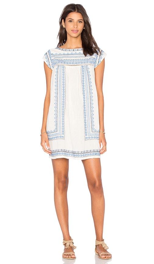 Star Mela Allie Emboidered Dress in Beige
