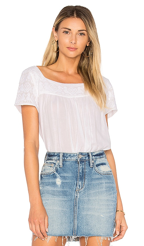 Star Mela Lori Embroidered Top in White