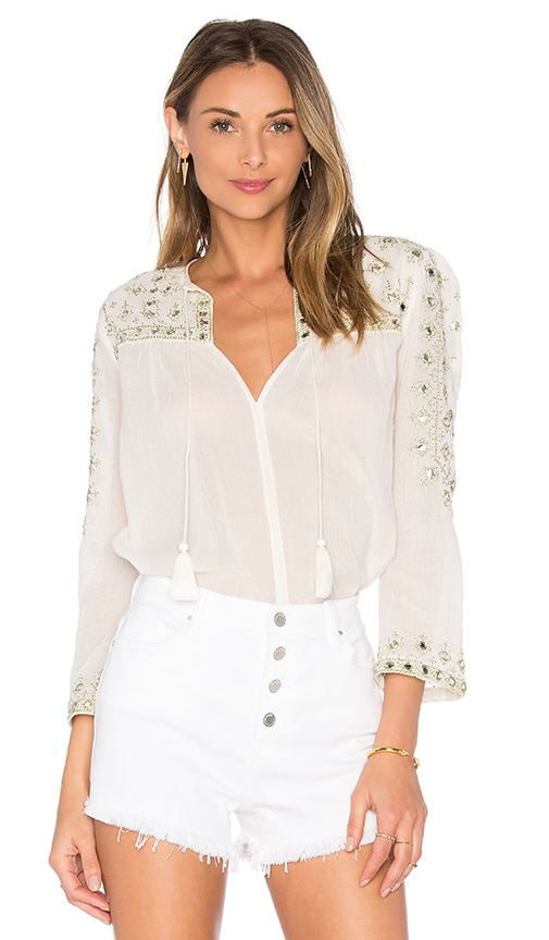 Santi Embroidered Top