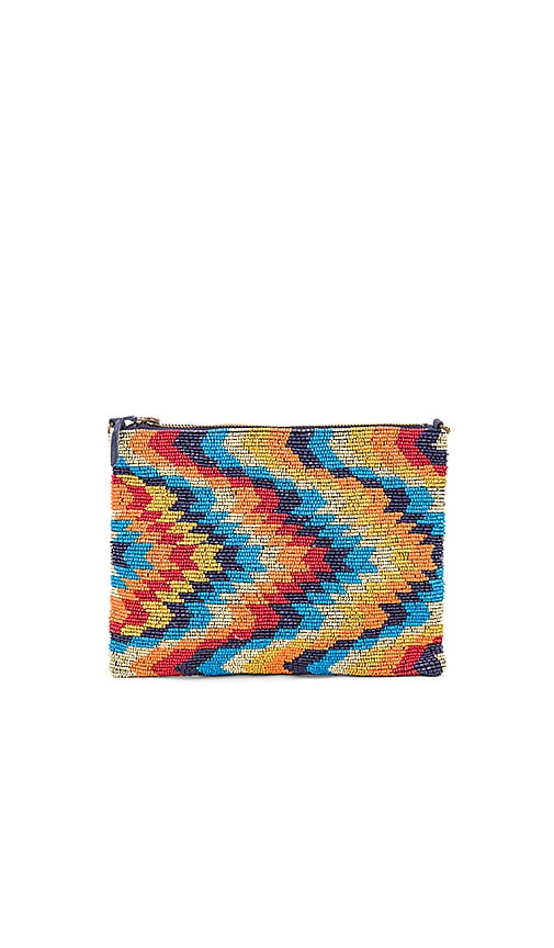 Star Mela Yoki Beaded Clutch in Navy