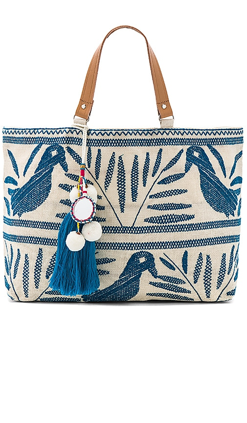 Star Mela Isi Embroidered Tote Bag in White