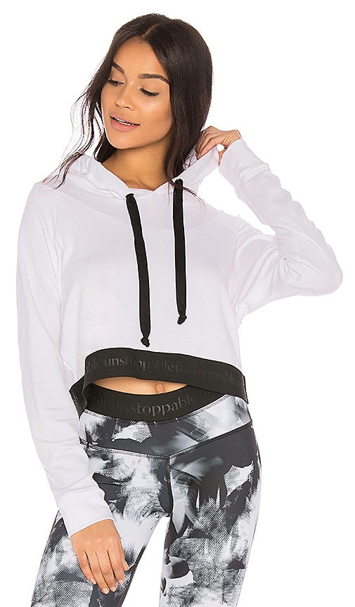 STRUT-THIS The Unstoppable Crop Hoodie in White