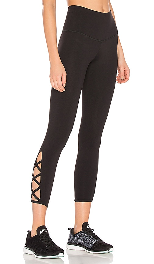 STRUT-THIS The Pax Crop Legging in Black
