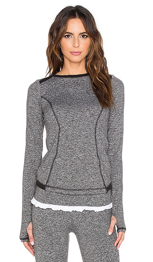 STRUT-THIS The Wilson Long Sleeve Top in Grey Moss
