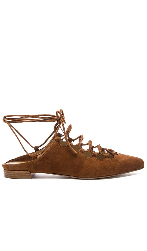 Stuart Weitzman Stringdown Flat in amaretto