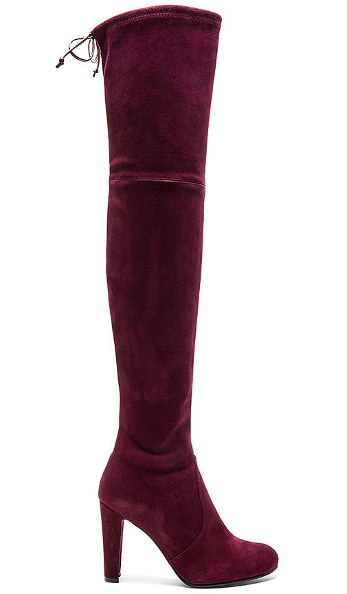 Stuart Weitzman Highland Boot in Burgundy