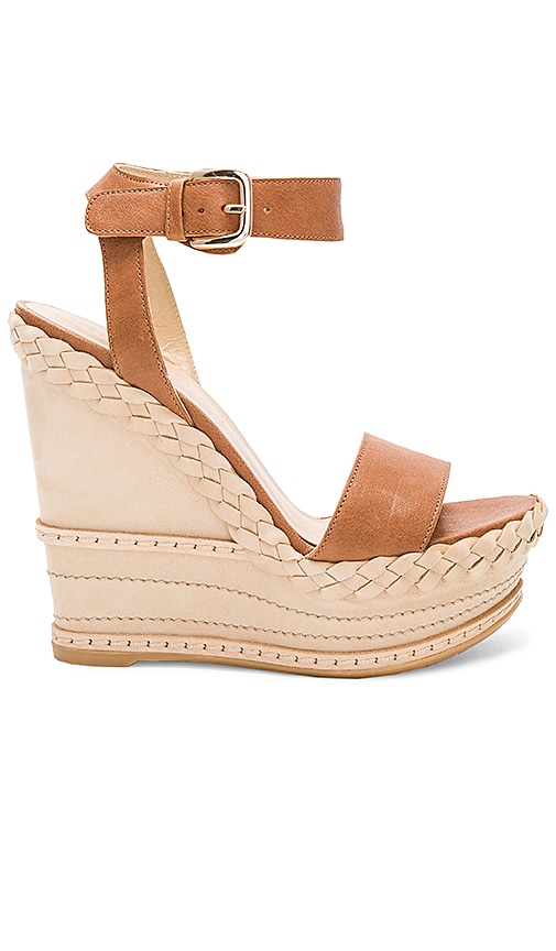 Stuart Weitzman Lets Dance Wedge in Brown