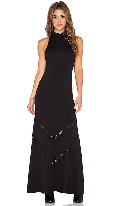 Stillwater The Victorian Maxi Dress in Black