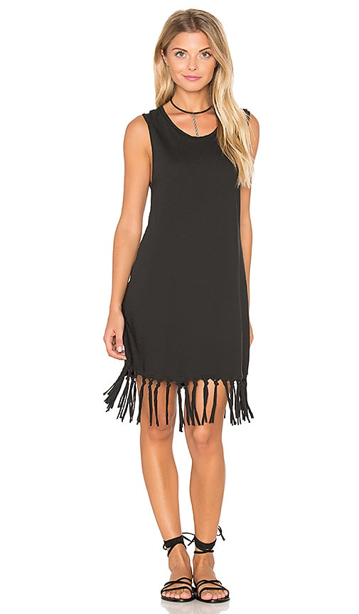 Stillwater Dakota Fringe Dress in Black
