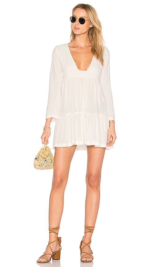 Tiered Square Neck Mini Dress