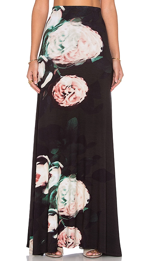 Stillwater The High Waist Maxi Skirt in Blurred Love
