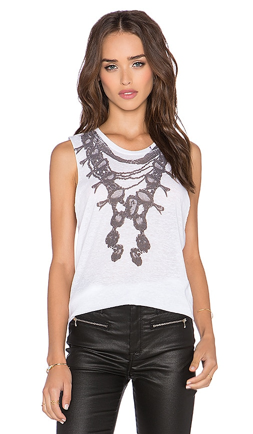 Stillwater The Squash Blossom Muscle Tank in White