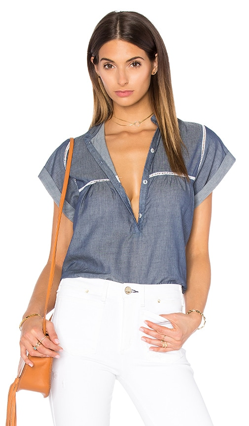 Stillwater Ride With Me Top in Blue