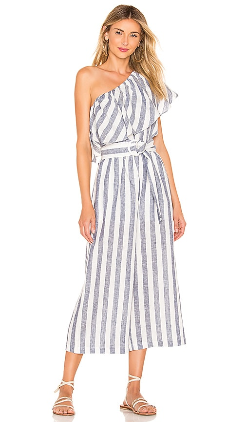 Newport One Shoulder Cropped Jumpsuit