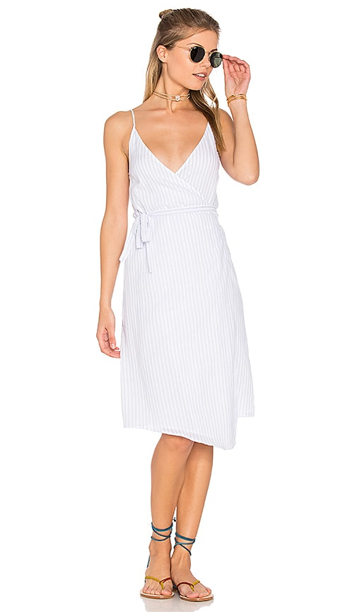 Suboo Into You Wrap Dress in Blue