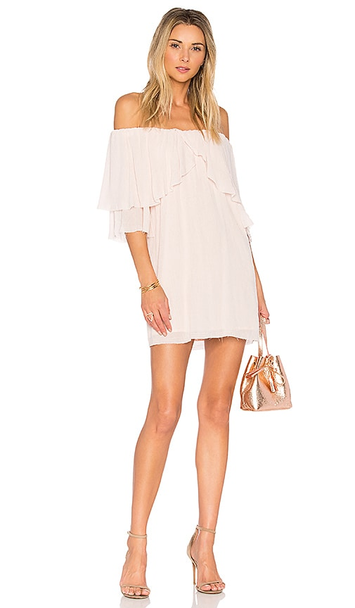 Suboo Perfect Day Off Shoulder Dress in Pink