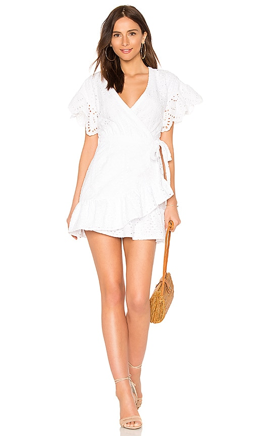 Suboo Hold On Wrap Dress in White