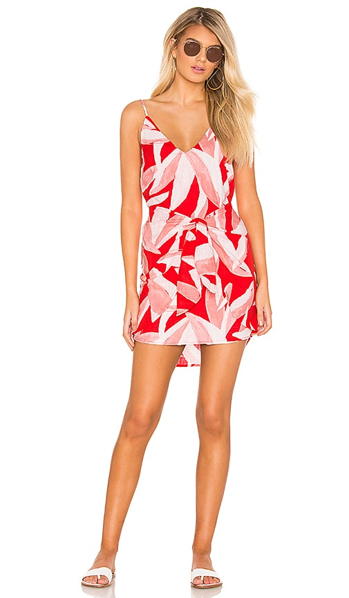 Havana Tie Front Mini Dress