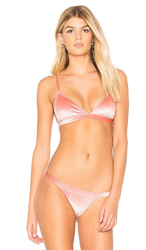 ccaedc83190f Suboo Velvet Bikini Top in Pink