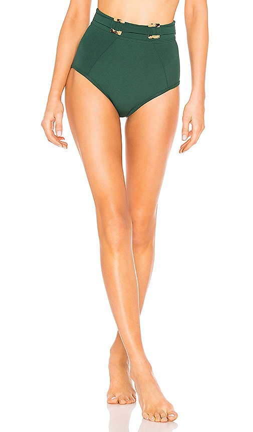 Jungalow Belted High Waisted Bikini Bottoms