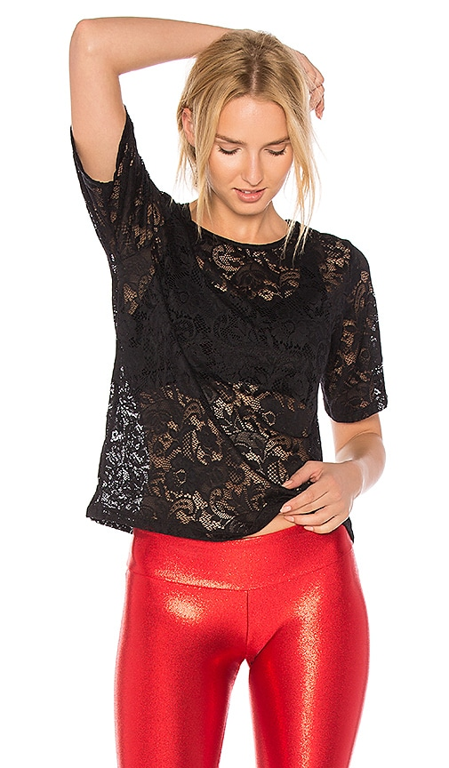 Sukishufu Love Lace T Shirt in Black