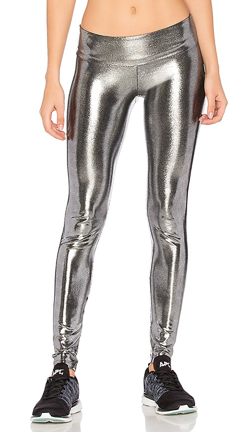 Sukishufu The Leatherback Legging in Metallic Silver
