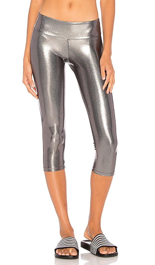 Sukishufu Suki Crop Legging in Metallic Silver