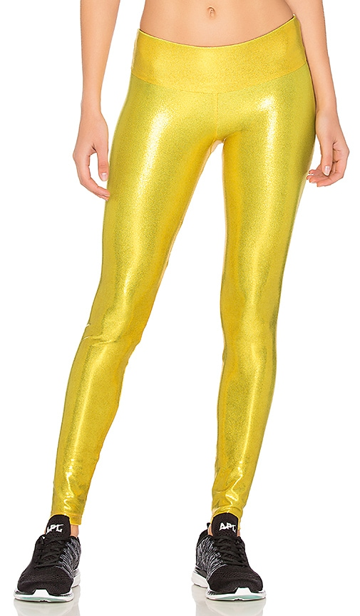 Sukishufu The Leatherback Legging in Metallic Gold