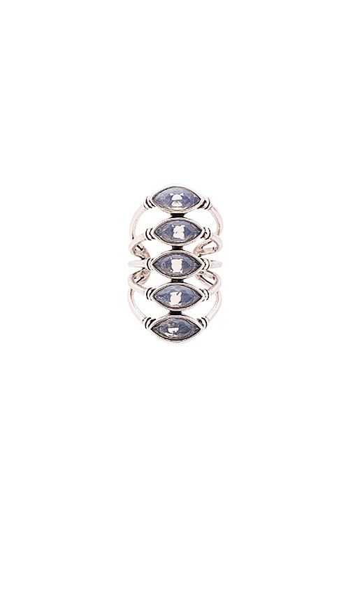 SunaharA Giza Ring in Silver & White Opal