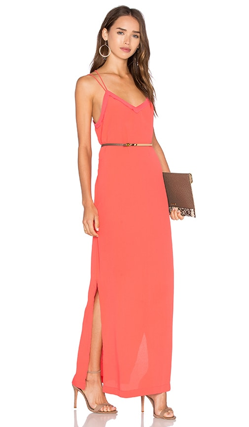 SUNCOO Casioppee Cami Dress in Coral