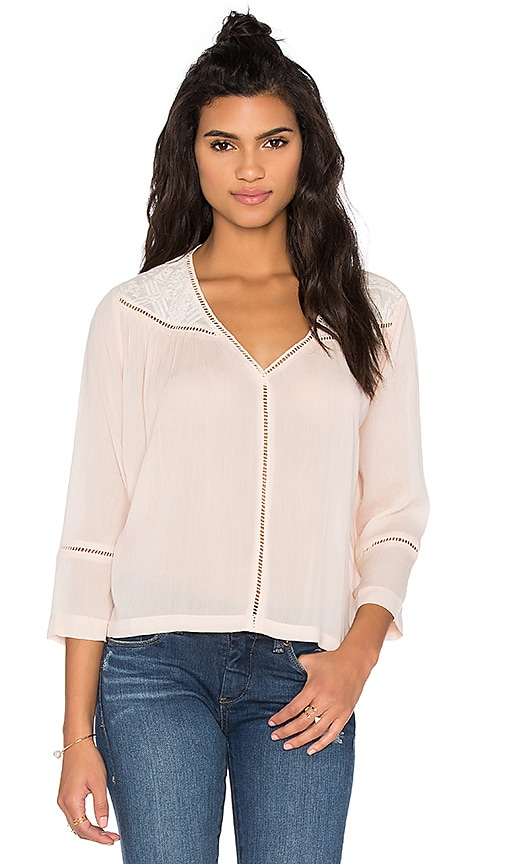 SUNCOO Luela Top in Ivory