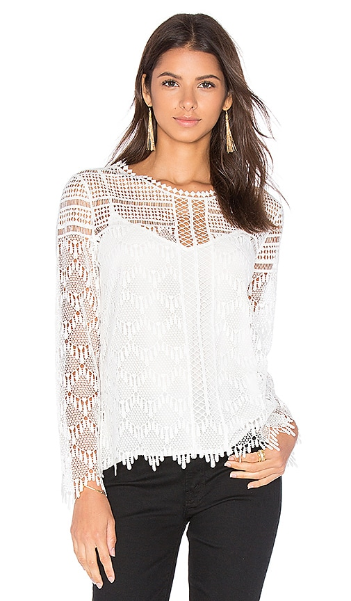 SUNCOO Lois Top in White