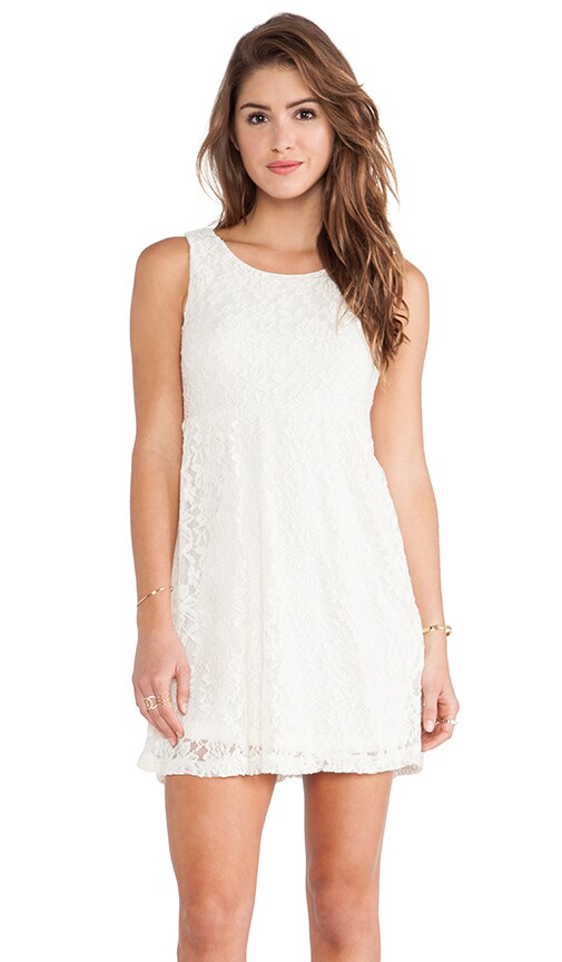 Ivory Lace Scoop Back Dress