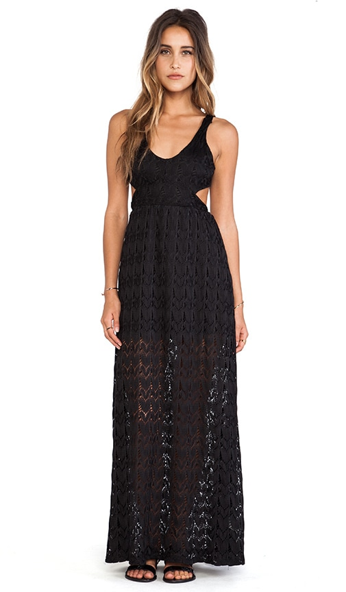 Crochet Open Back Maxi Dress