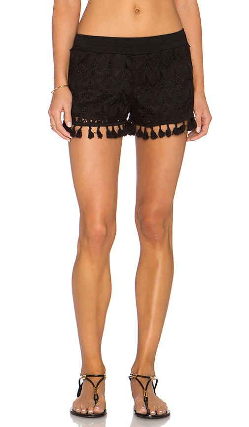 Crochet Tassel Trim Shorts