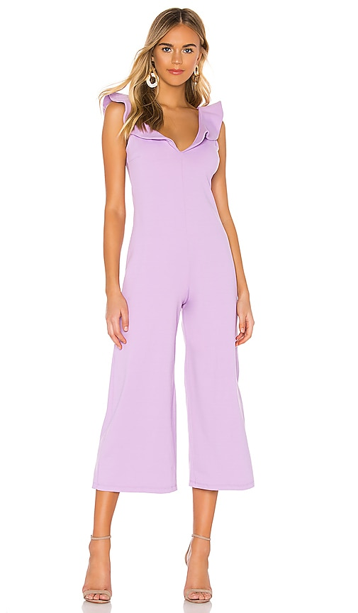 Double V Ruffled Jumpsuit