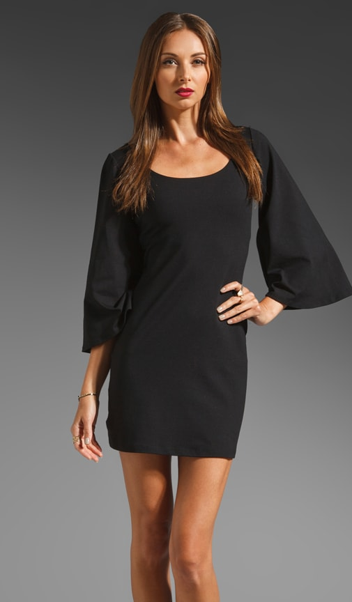 Billow Sleeve Scoop Dress