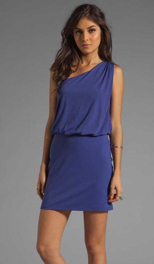 Light Supplex Terry One Shoulder Dress