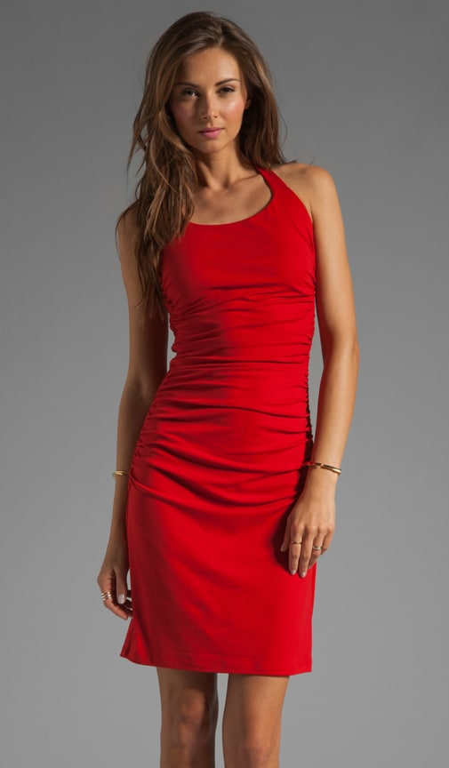 Light Supplex Halter Drape Dress