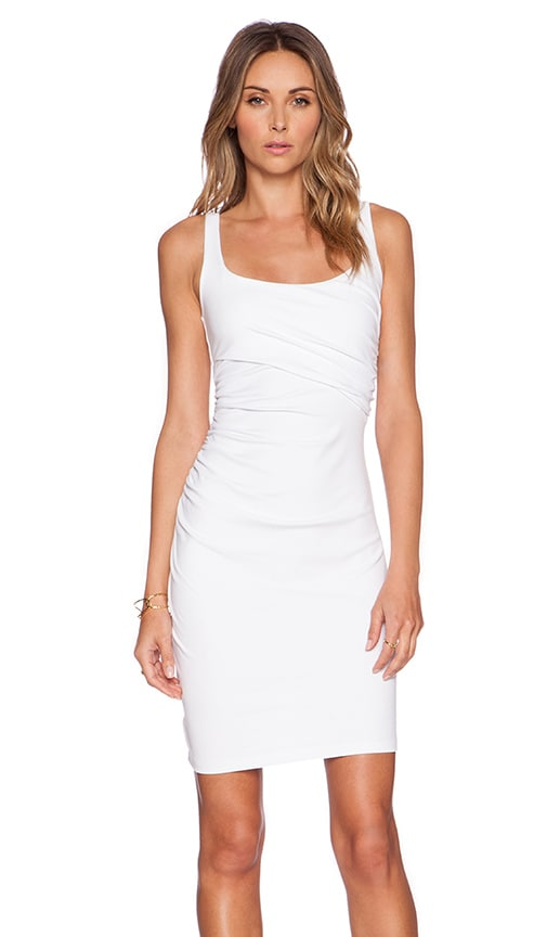 Susana Monaco Cross Gather Tank Dress in White