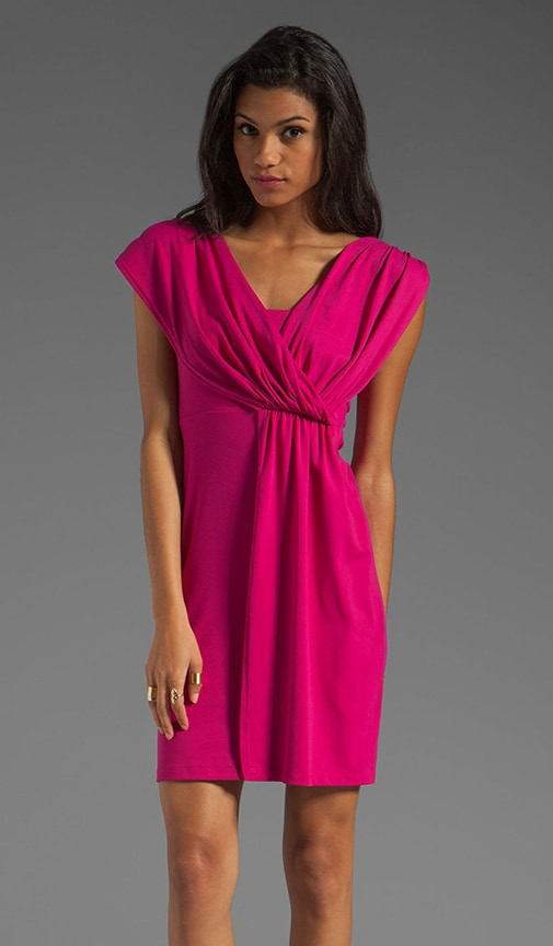Light Supplex Asymmetric Drape Dress
